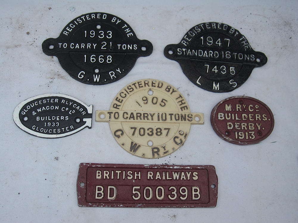 A Lot Containing 6 Different WAGON PLATES