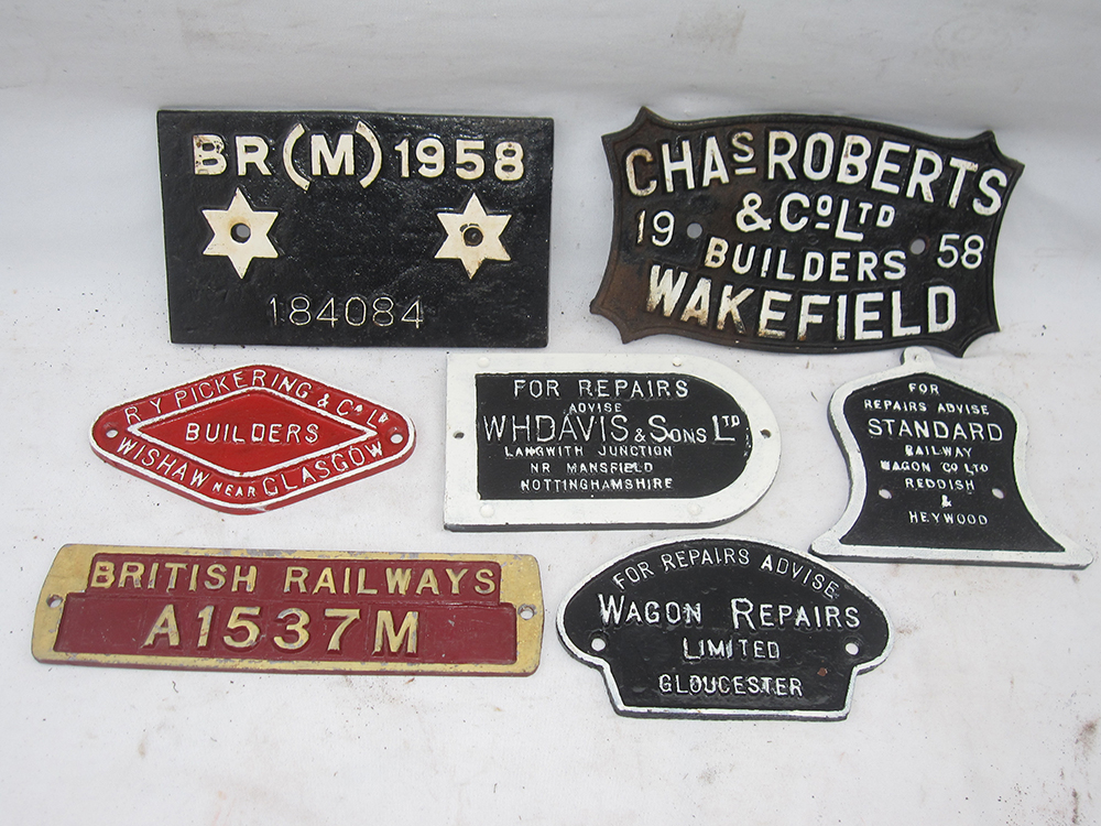 A Lot Containing 7 Wagon Plates To Include Chas