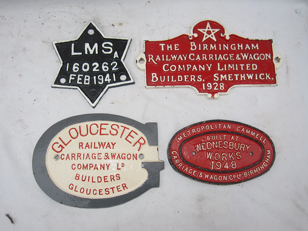 A Lot Containing 4 WAGON PLATES To Include
