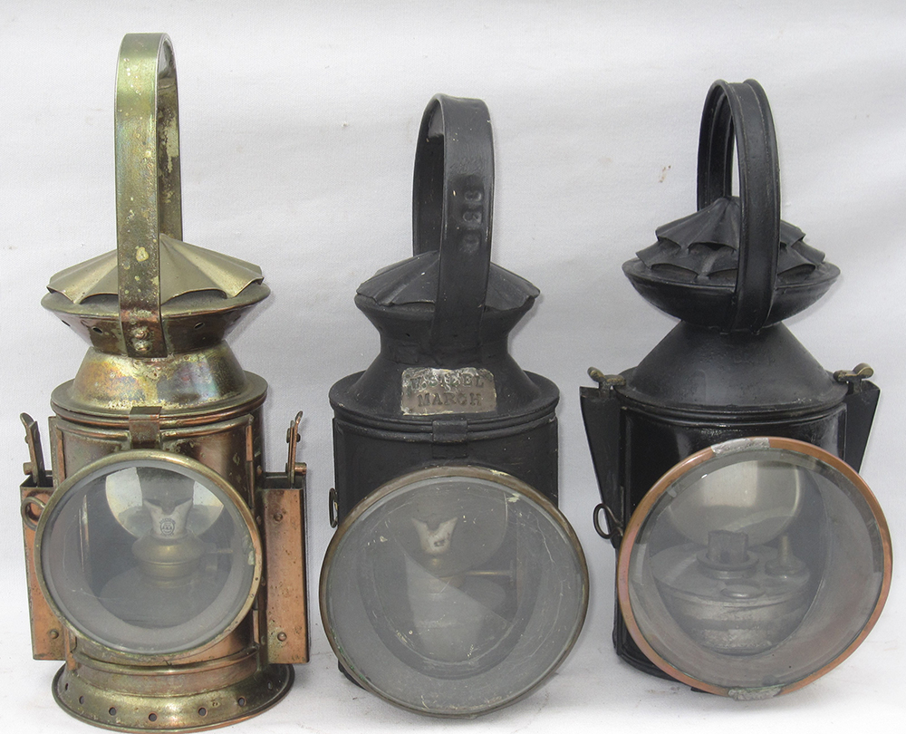 3 Railway Handlamps. WD 3 Aspect. LNER Locomans