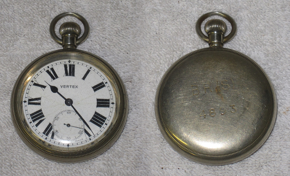 Railway Guards Pocket Watch. Stamped On Rear BR(S)