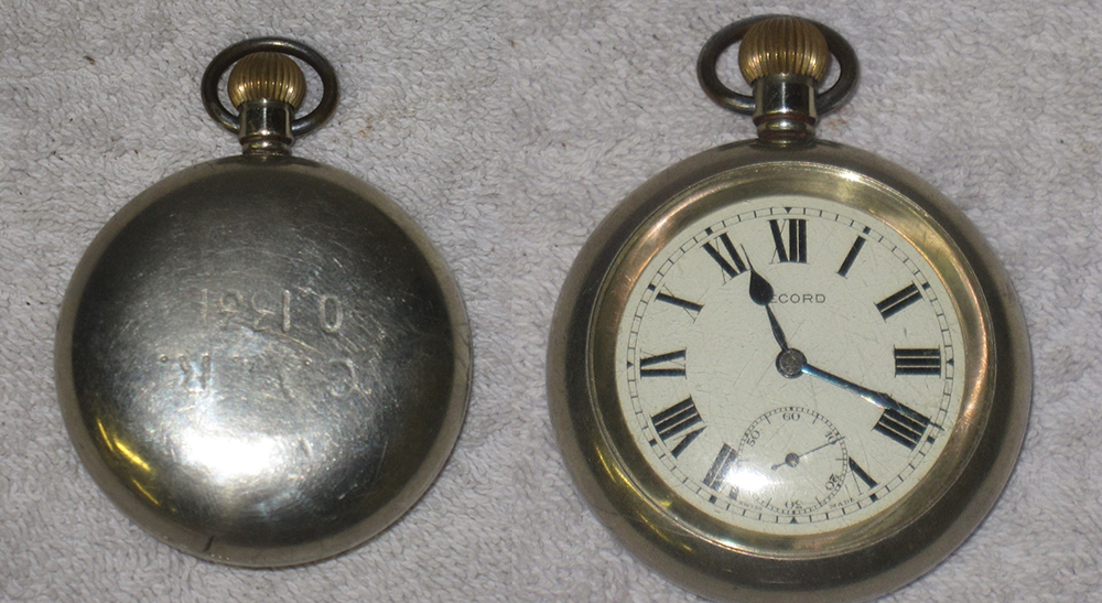 Railway Guards Pocket Watch. Stamped On Rear GWR