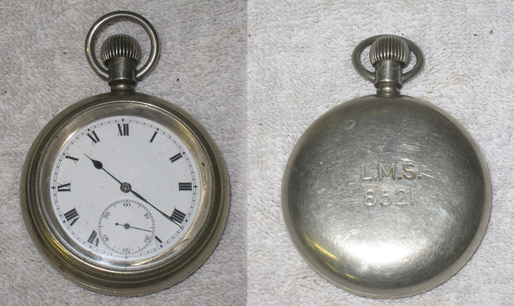 Railway Guards Pocket Watch. Stamped On Rear L.M.S