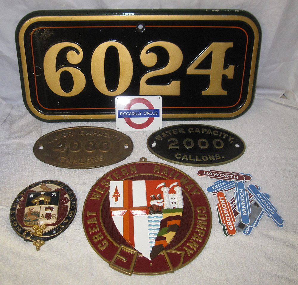 A Lot Containing Reproduction Railway Items. A