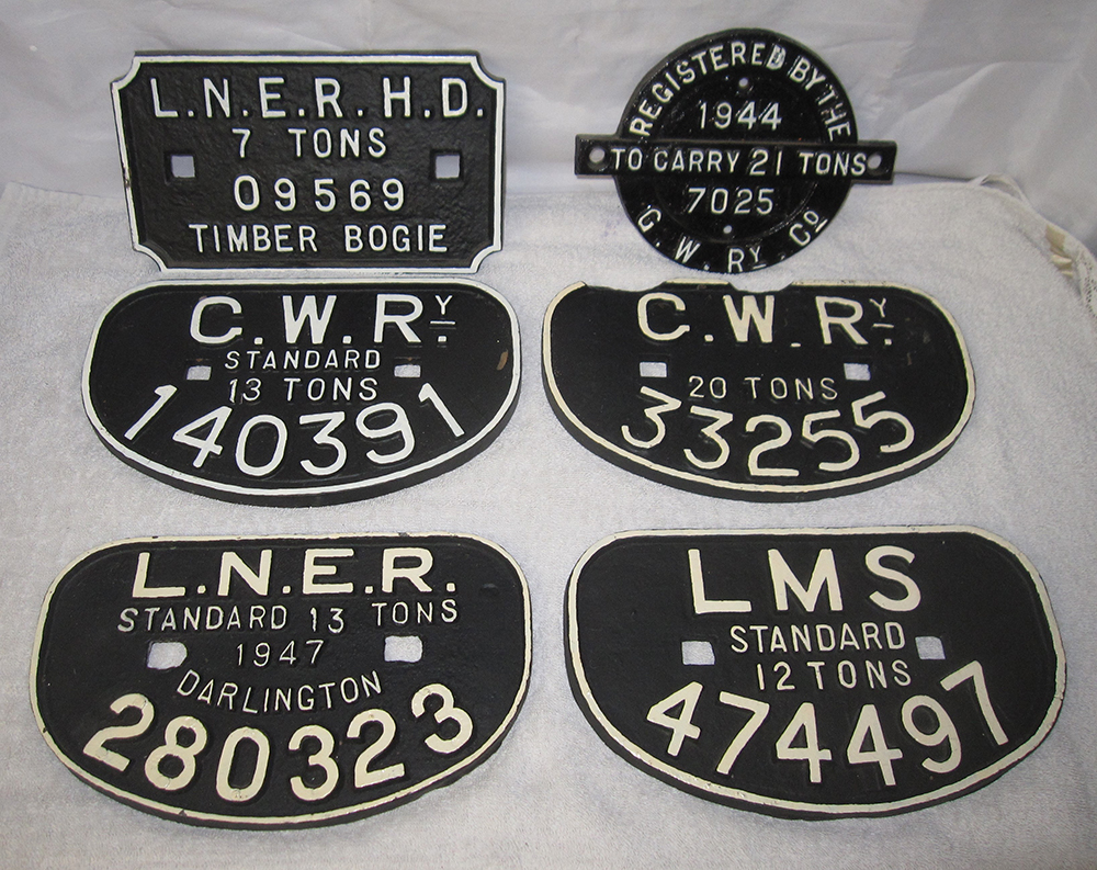 A Collection Of Six Wagon Plates. 4 X D Plates