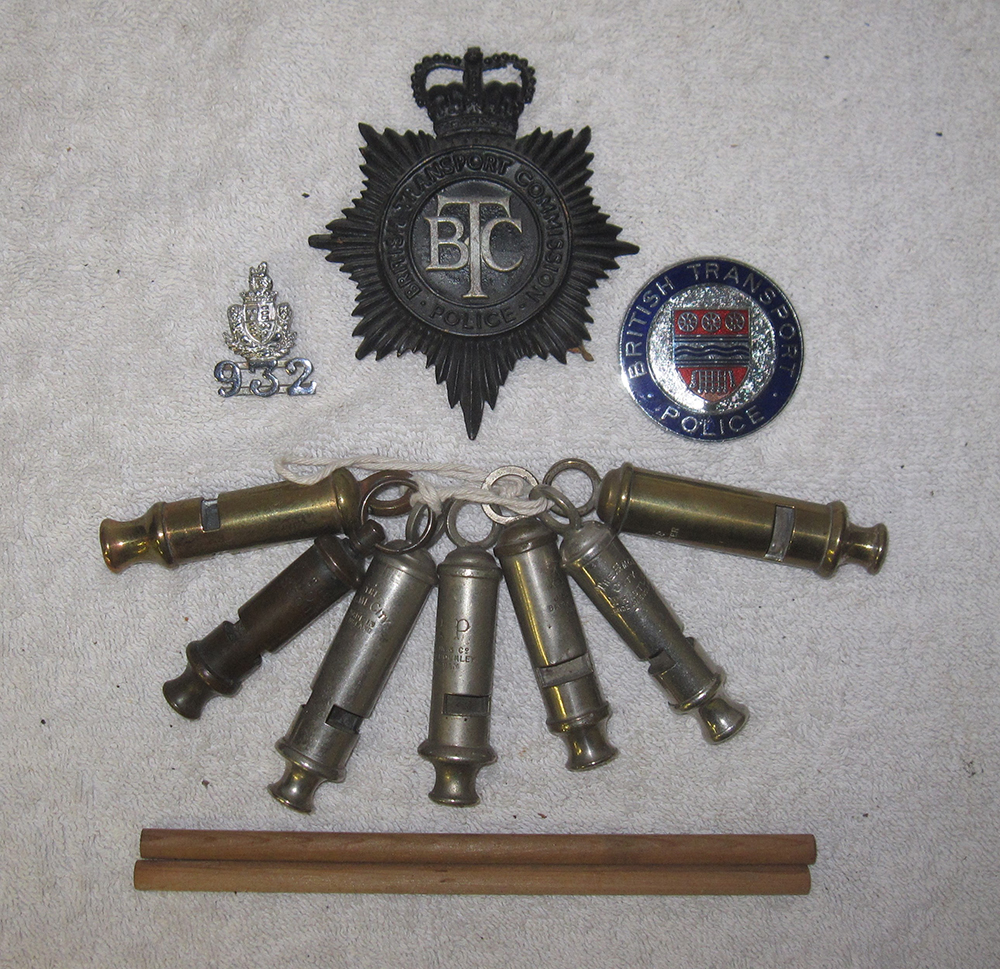 A Lot Containing A Collection Of Police Items. BT
