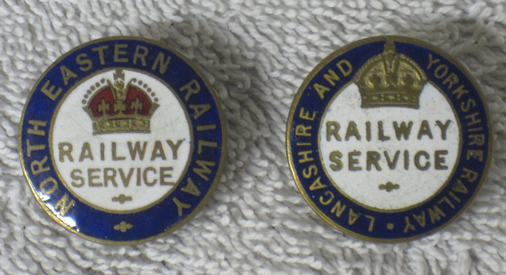 Two ww1 Railway Service Badges. NORTH EASTERN