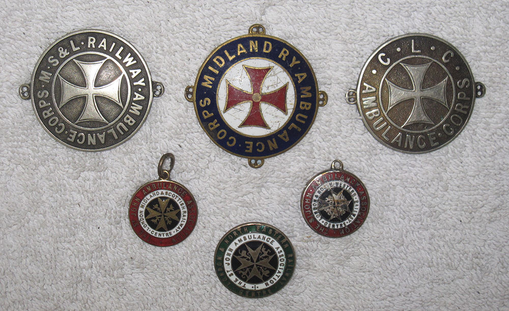 A Lot Containing 3 Large  St John Ambulance Badges