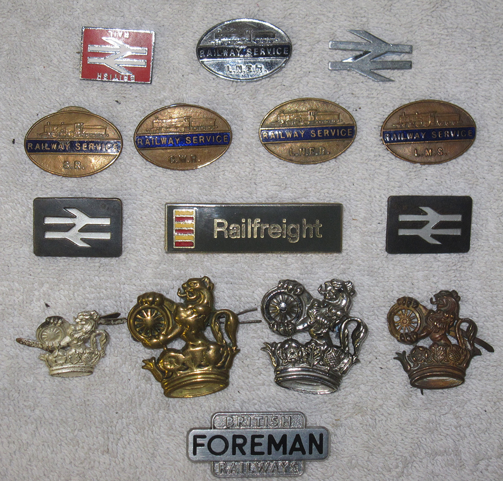 A Lot Containing 5 ww2 Railway Service Badges One