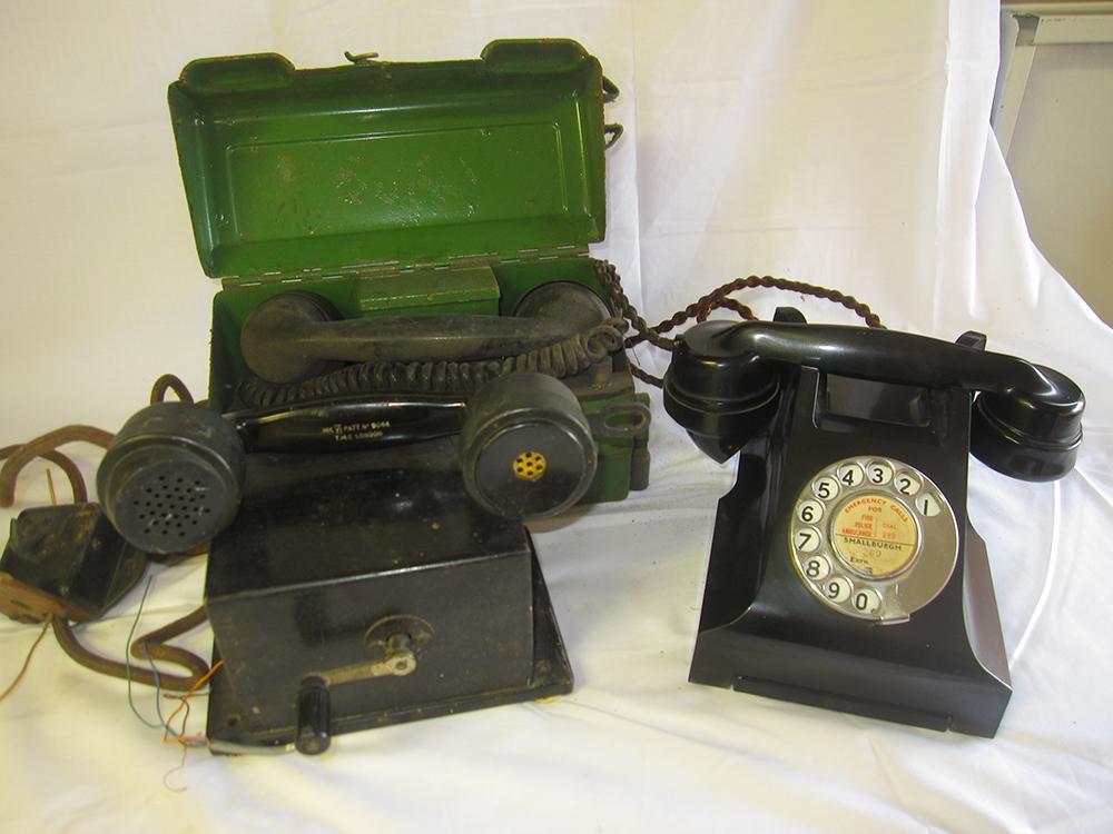 GPO Bakelite Telephone With Original Cord Flex