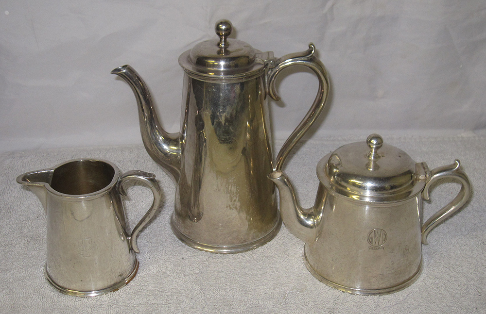 A Lot Containing Silver Plated GWR Dining Ware. 1
