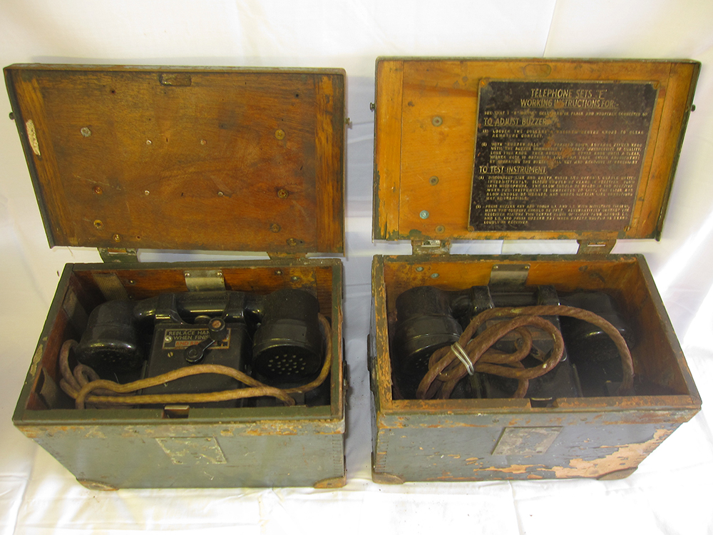 2 Boxed Lineman Telephones. Untested.