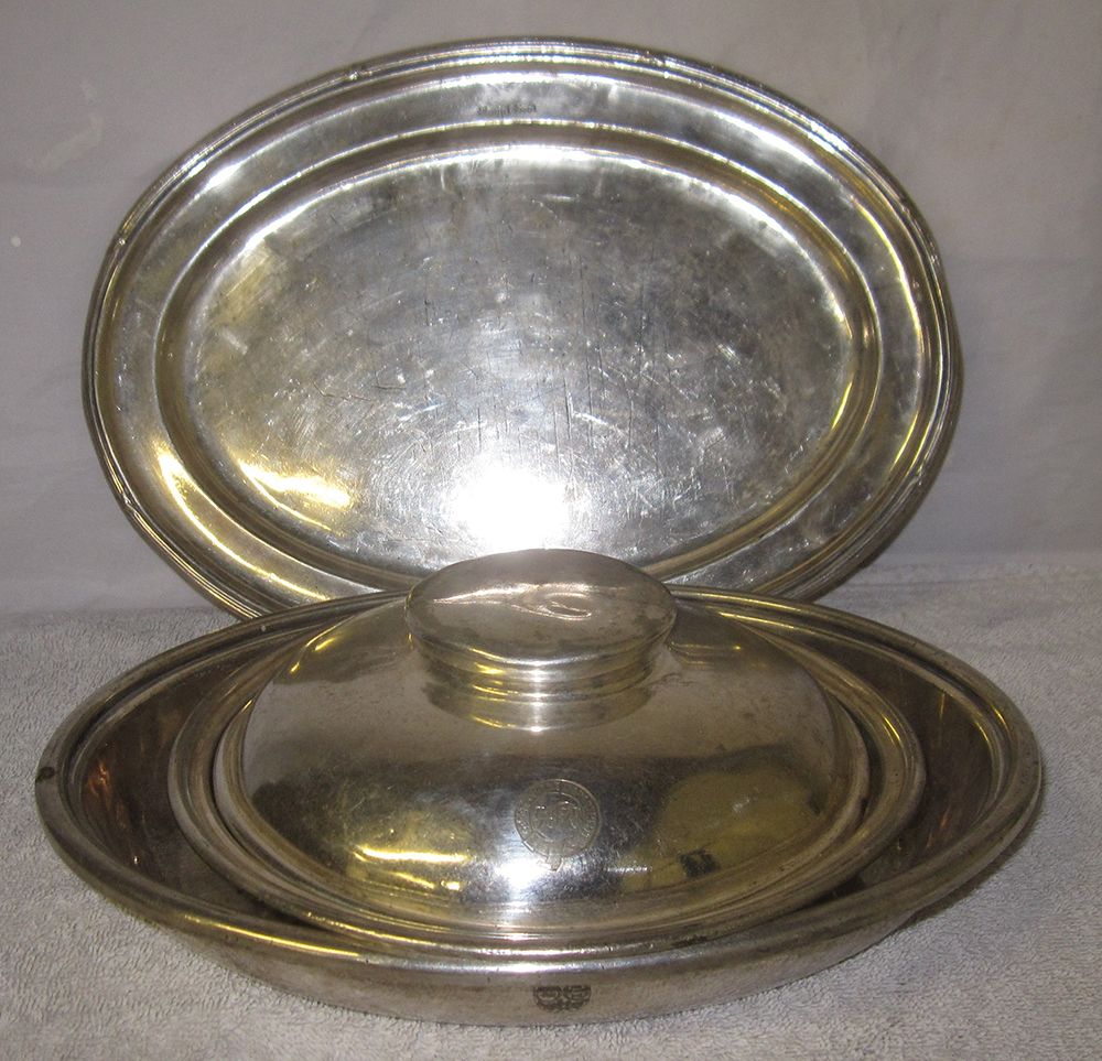 Quantity Of 4 X Silver Plated Serving Dishes And