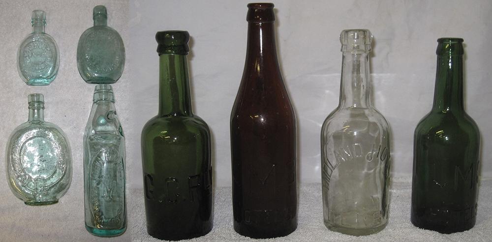 8 X Railway Company Beer And Tonic Bottles To