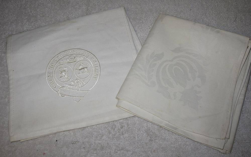 Lancashire & Yorkshire Railways White Embroidered