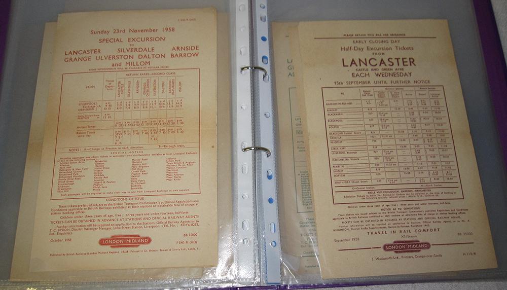 46 British Railways Hand Bills Individually Stored