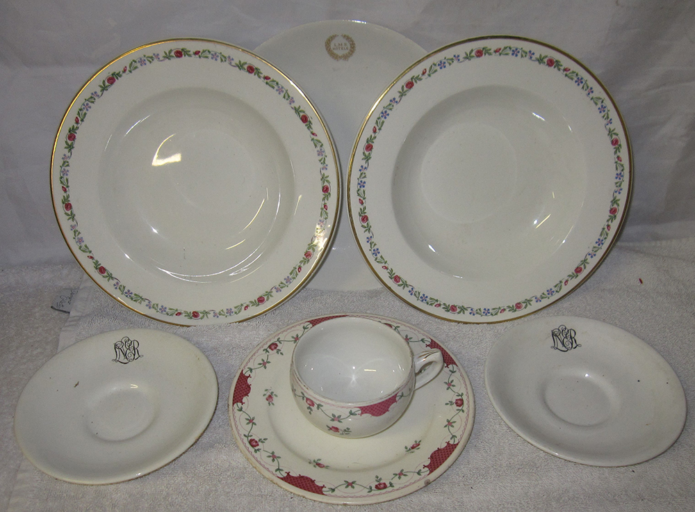 A Quantity Of LMS And LNER CROCKERY To Include 2 X