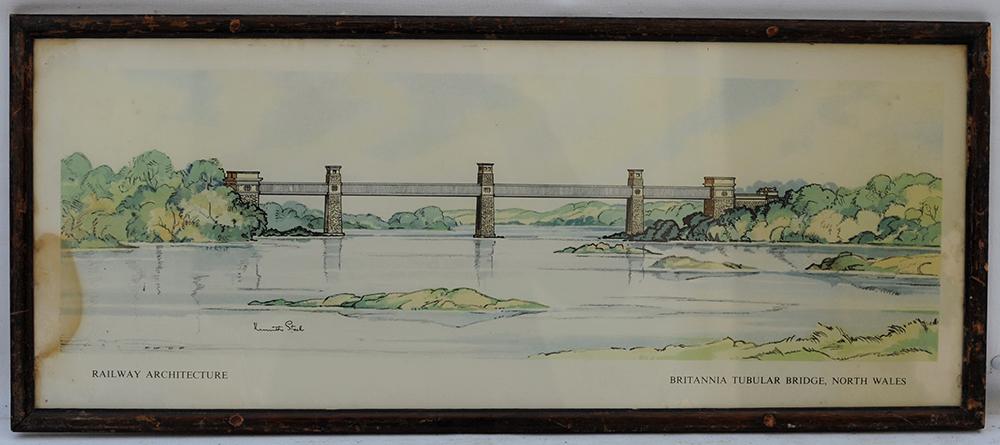 Carriage Print.  Britannia Tubular Bridge North