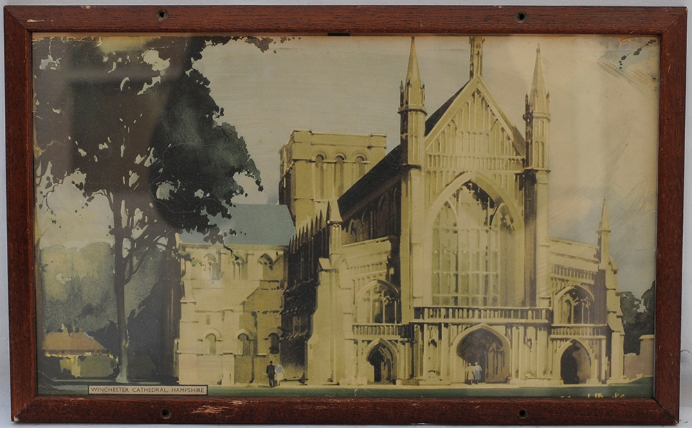Carriage Print. Winter Cathedral In Hampshire By