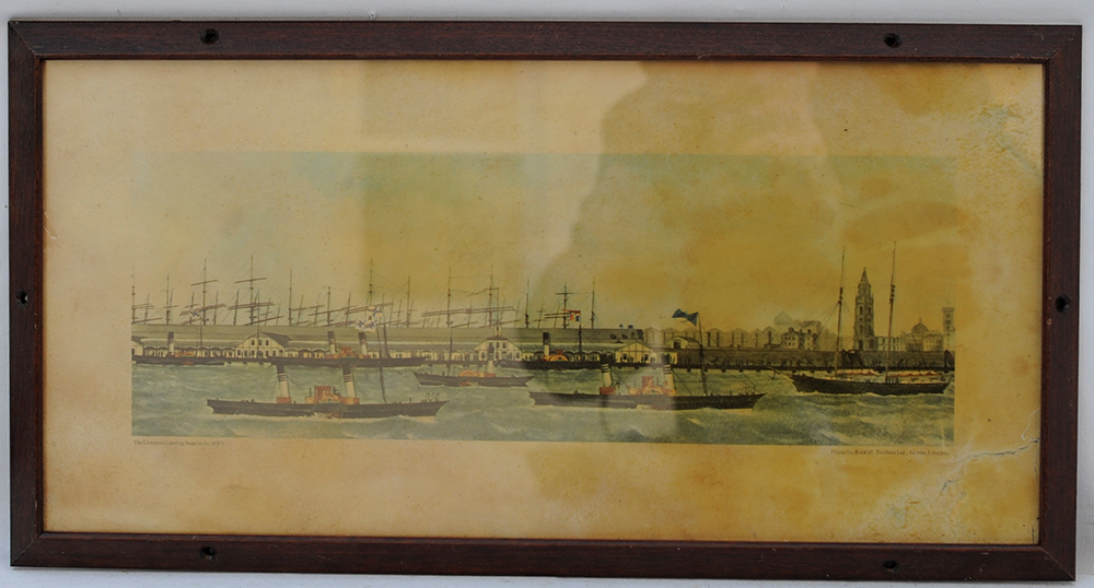 Carriage Print. Liverpool Docks. These Prints