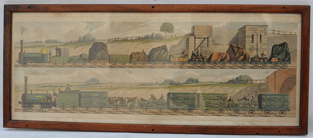 Carriage Print. Travelling On The Liverpool And