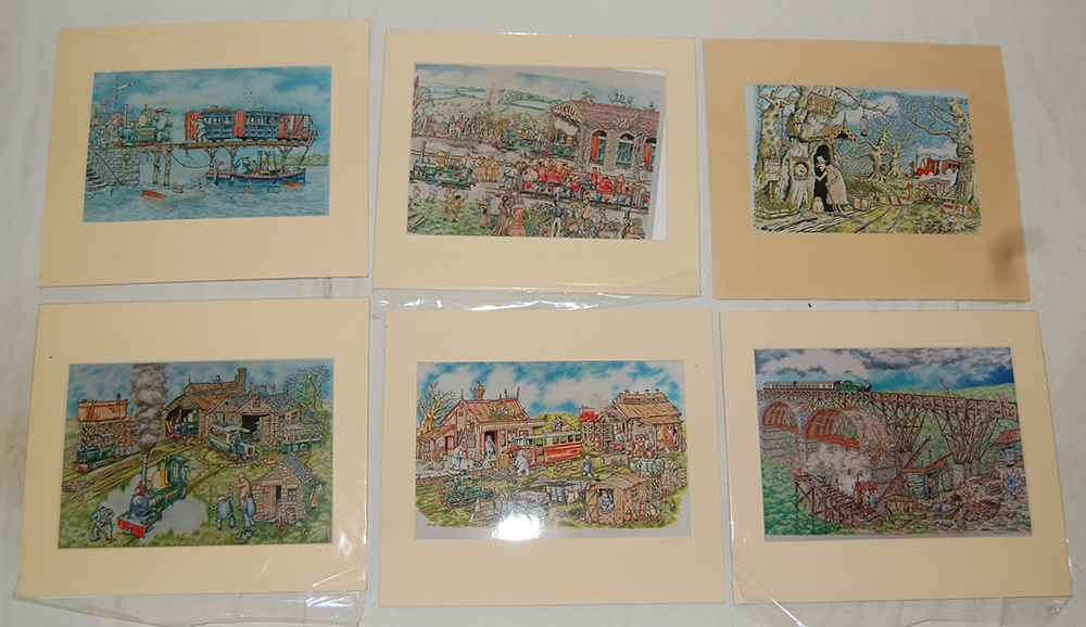 5 X Unframed Steam Pencil Limited Edition Prints