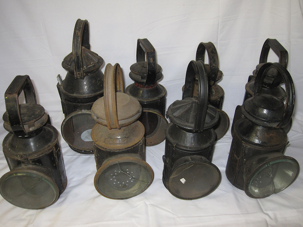 A Lot Containing Lamp Spares. 8 Various Hand Lamp