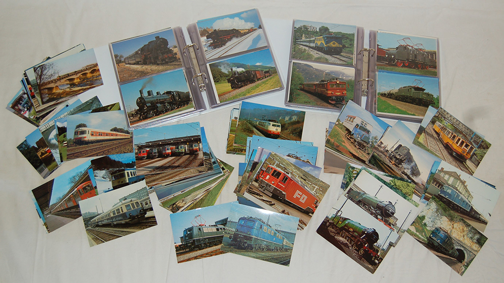 A Collection Of Railway Post Cards In Binders