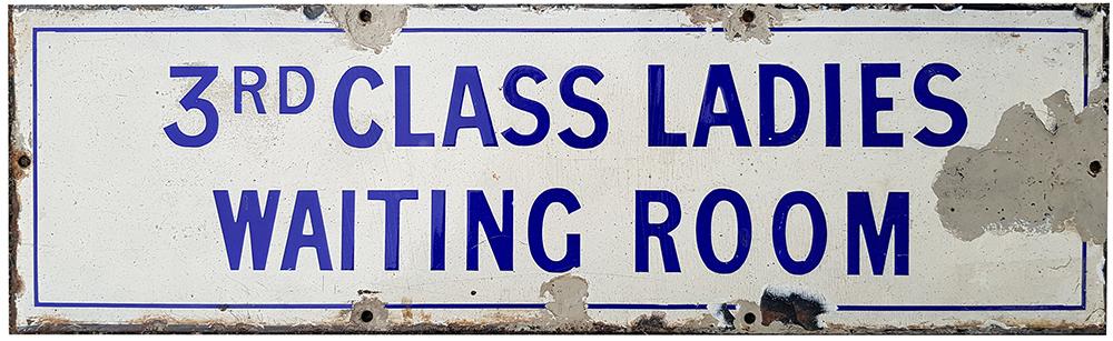 Enamel Pre Grouping Door Plate. Third Class