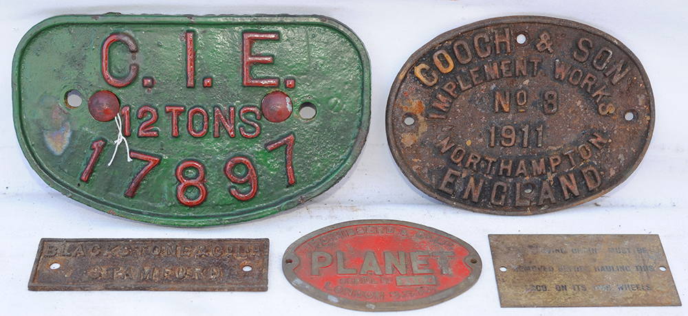 A Collection Of Wagon And Works Plates. Including