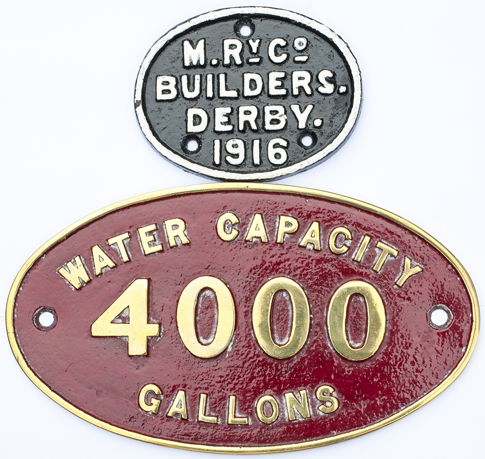 LMS Brass Tender Plate Water Capacity 4000 Gallons
