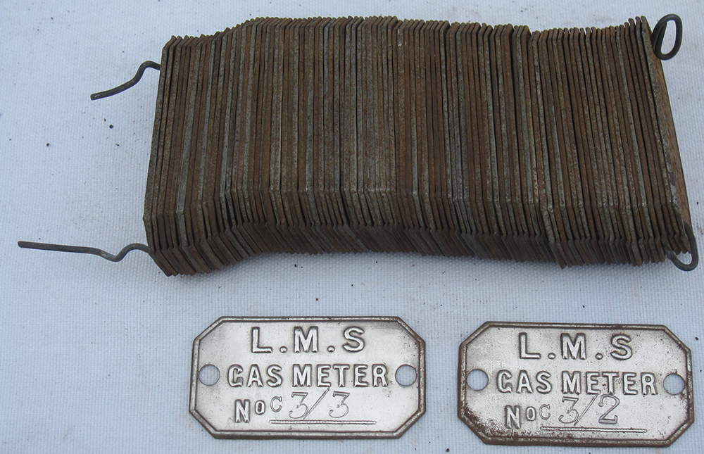 A Collection Of Over 50 LMS Gas Meter Tag Labels