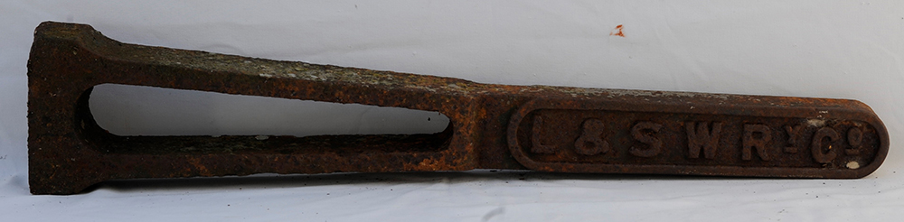 LSWR Cast Iron Boundary Post Unpainted Condition.