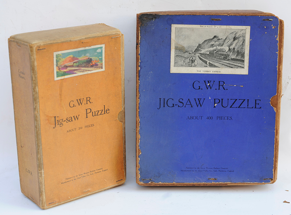 2 X GWR Jigsaws.  The Cornish Riviera And The