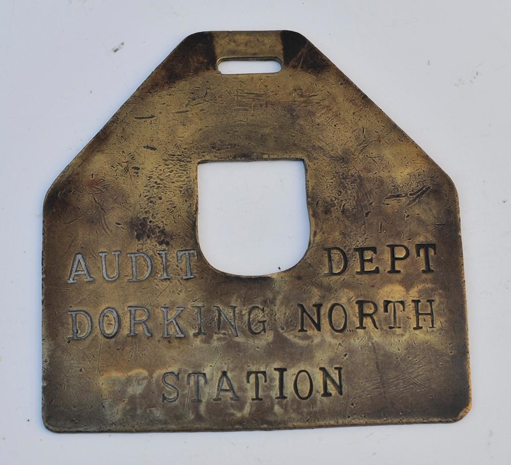 SR Cash Bag Plate. Engraved Slades Green - Audit