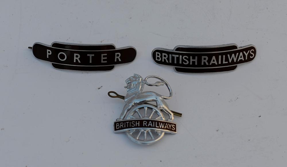 3 X BR Cap Badges. BR(W) Lion Over Wheel Together