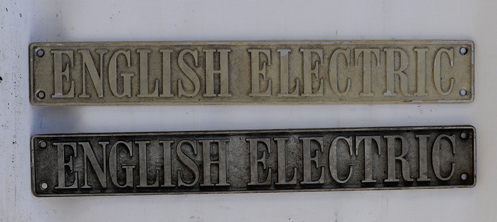 A Pair Of Genuine English Electric Plates From