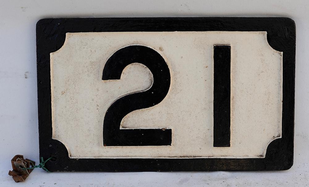 Midland Railway Bridge Plate 21. Repainted.