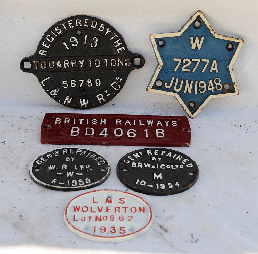A Collection Of 6 X Wagon And Repair Plates. 1913