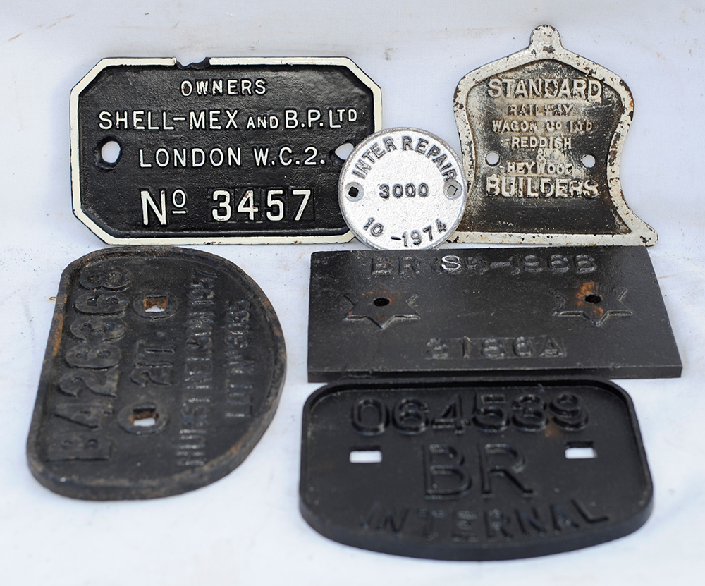 A Collection Of 6 Wagon Plates. 21 Ton H Nelson.