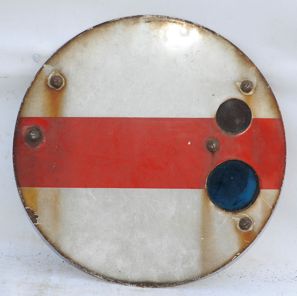 An Enamel Shunting Disc Complete With Its Cast