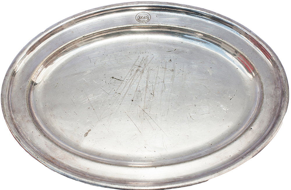 East Coast Joint Stock Silver Plate Salver, Face