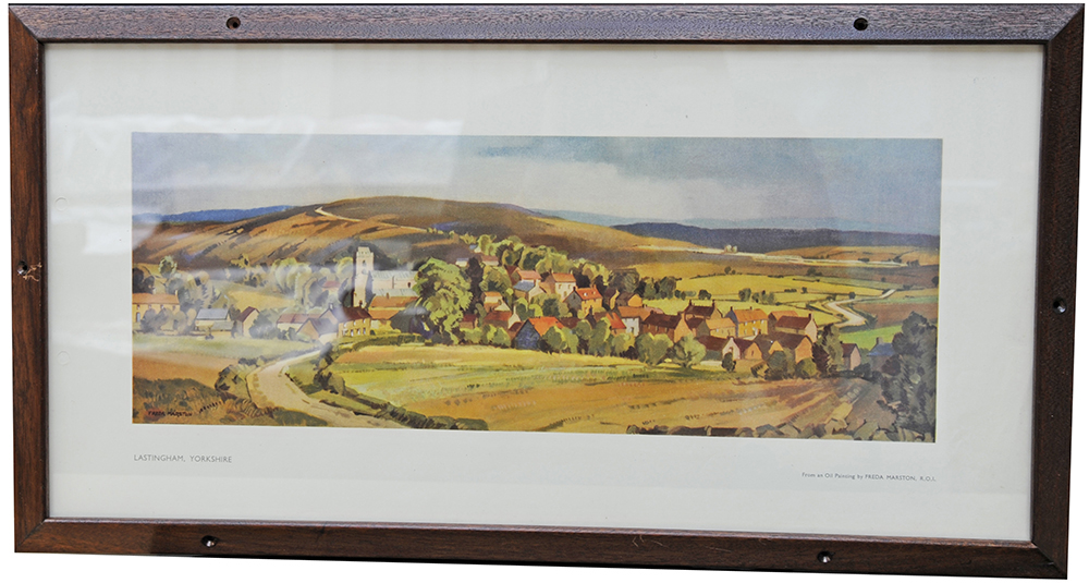 Carriage Print Lastingham Yorkshire By Freda