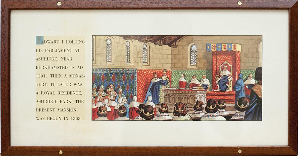 Carriage Print EDWARD I, PARLIAMENT AT ASHRIDGE,