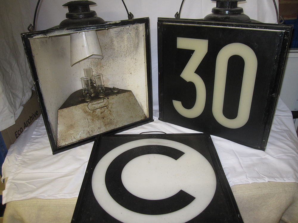 2 Adlake Track Warning Lamps With Filters 30 And C