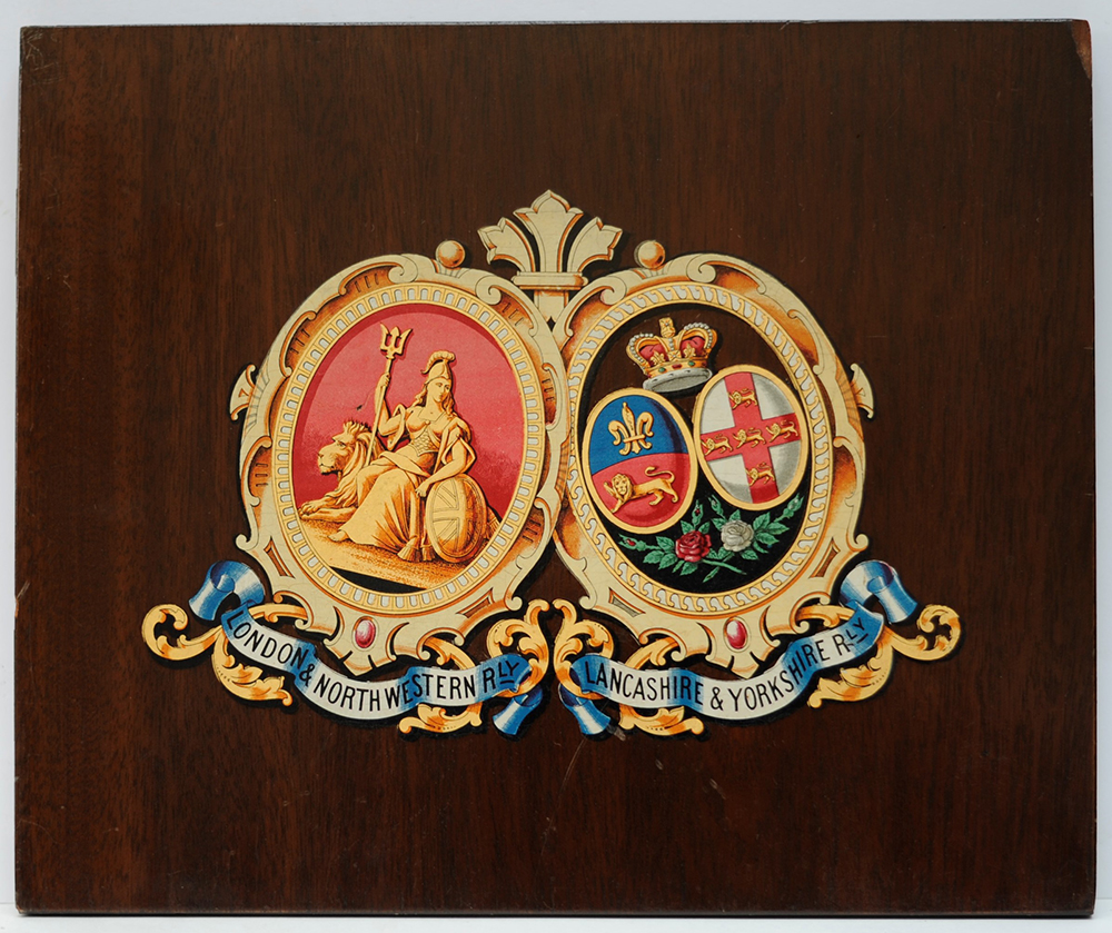 LNWR Mounted CREST. The Company COAT OF ARMS