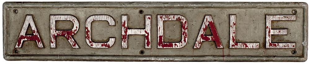 Industrial Diesel Name Plate. ARCHDALE.