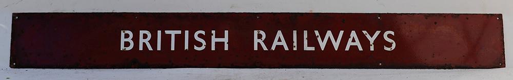 BR(M) QR Enamel Poster Board Heading. BRITISH