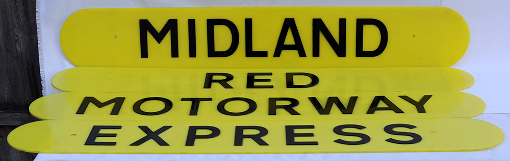 MIDLAND RED MOTORWAY EXPRESS Plastic Screen