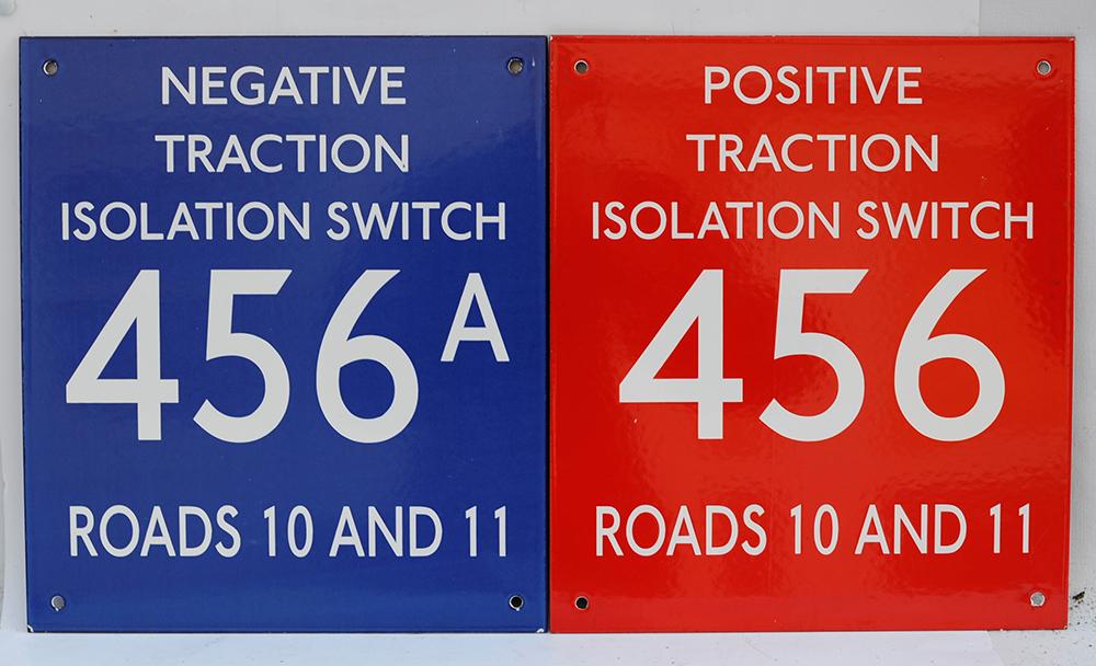 2 X London Transport Enamel Isolation Signs.